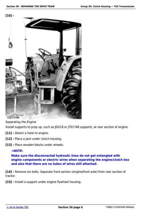 Third Additional product image for - Deere Tractors 5055E, 5065E, 5075E, 5078E, 5085E, 5090E South America, Africa Repair Manual TM801719