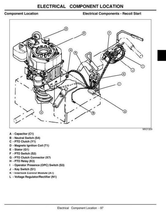 Second Additional product image for - Commercial Walk-Behind Mower 7G18 (SN.020001-) Diagnostic, Repair Technical Service Manual (tm2220)