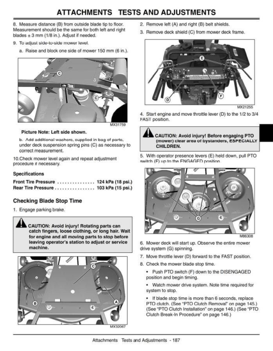 Fourth Additional product image for - Commercial Walk-Behind Mower 7G18 (SN.020001-) Diagnostic, Repair Technical Service Manual (tm2220)