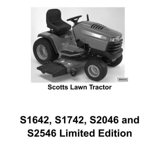 Fourth Additional product image for - Scotts S1642, S1742, S2046, S2546 Limited Edition Lawn Tractors (John Deere) Technical Manual (tm1776)