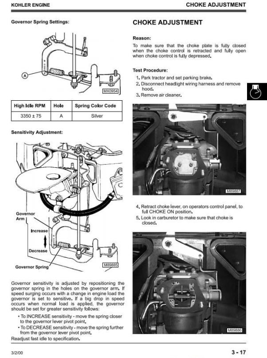 Fourth Additional product image for - Scotts S2048H, S2348H, S2554H Yard & Garden Tractors (John Deere) Technical Service Manual (tm1777)