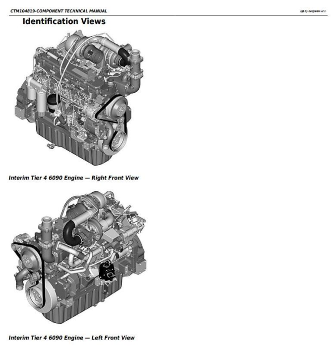 First Additional product image for - PowerTech 6090 Diesel Engine (Interim Tier 4) Level 21 ECU Technical Service Manual (CTM104819)
