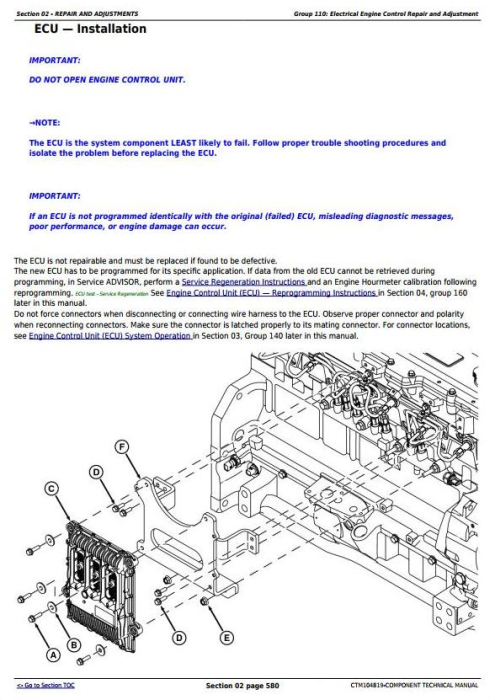 Third Additional product image for - PowerTech 6090 Diesel Engine (Interim Tier 4) Level 21 ECU Technical Service Manual (CTM104819)