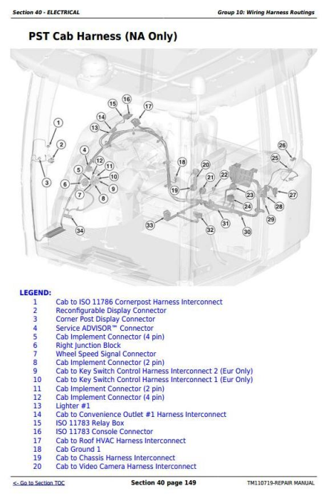 Second Additional product image for - John Deere 9360R, 9410R, 9460R, 9510R, 9560R Articulated Tractors Service Repair Manual (TM110719)