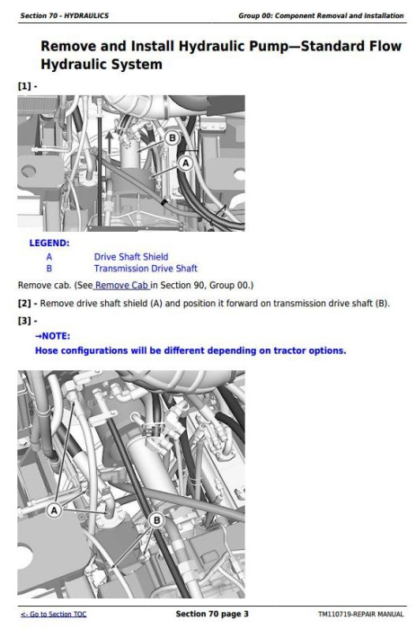 Fourth Additional product image for - John Deere 9360R, 9410R, 9460R, 9510R, 9560R Articulated Tractors Service Repair Manual (TM110719)