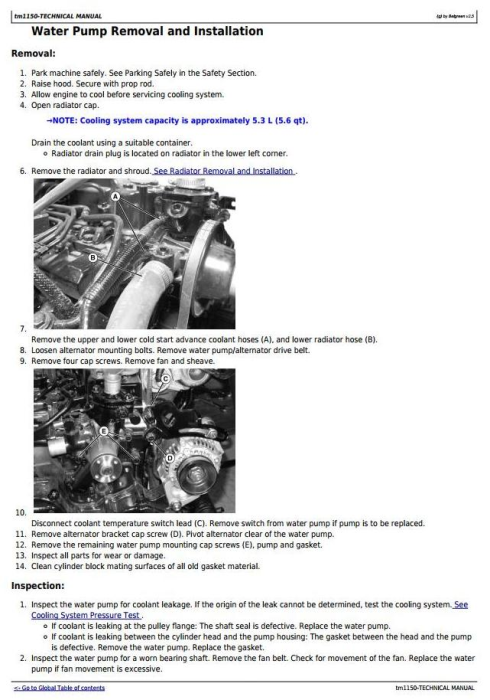 Second Additional product image for - Deere 3203 Compact Utility Tractors All Inclusive Technical Manual (tm1150)