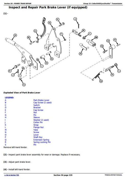 Fourth Additional product image for - John Deere Tractors 5425, 5425HC, 5425N, 5625, 5625HC, 5725, 5725N Service Repair Technical Manual TM6032