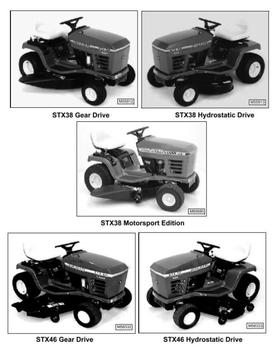 Second Additional product image for - John Deere STX38, STX46, STX30D Riding Lawn Tractors Technical Service Manual (tm1561)