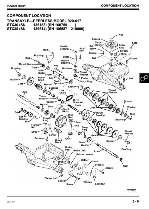 Third Additional product image for - John Deere STX38, STX46, STX30D Riding Lawn Tractors Technical Service Manual (tm1561)