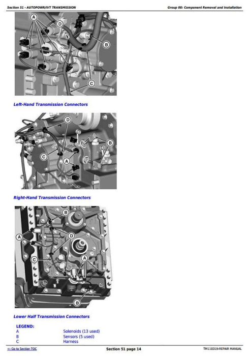 Second Additional product image for - John Deere 8235R, 8260R, 8285R, 8310R, 8335R, 8360R Tractors Repair Manual (TM110319)