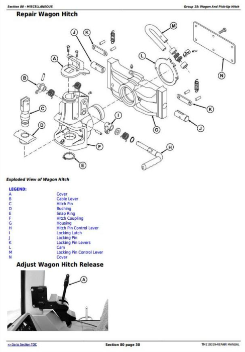 Fourth Additional product image for - John Deere 8235R, 8260R, 8285R, 8310R, 8335R, 8360R Tractors Repair Manual (TM110319)