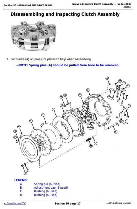 Fourth Additional product image for - John Deee Tractors 5403, 5600, 5603, 5605, 5700 and 5705 (South America) Repair Service Manual (tm8139)