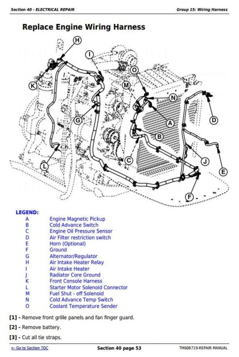 Fourth Additional product image for - John Deere Tractors 5415, 5615, and 5715 Sevice Repair Technical Manual (TM606719)