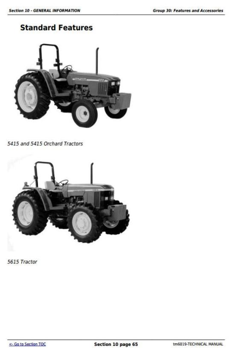 Third Additional product image for - John Deere Tractors 5415, 5415N, 5415H, 5615, 5615HC, 5715, 5715HC All Inclusive Technical Manual (TM6019)