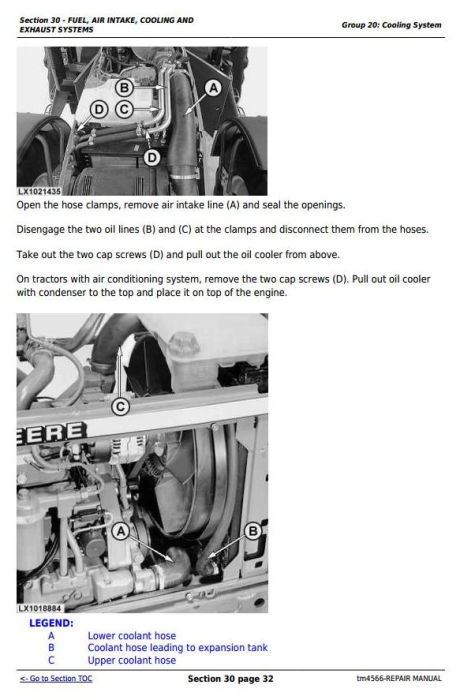 Third Additional product image for - John Deere Tractors 6810, 6910, and 6910S Service Repair Technical Manual (TM4566)