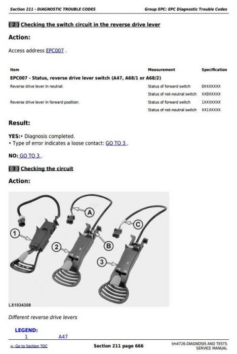 Third Additional product image for - Tractors 6020, 6120, 6220, 6320, 6420, 6520, 6620, 6820, 6920 Diagnostic&Tests Service Manual TM4726