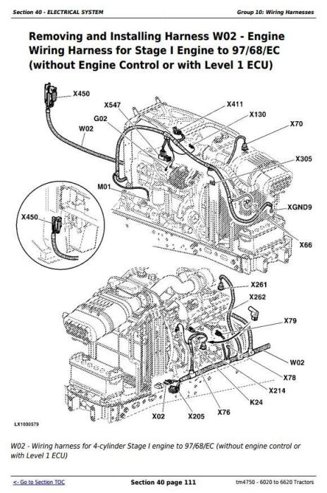 Third Additional product image for - John Deere Tractors 6020, 6120, 6220, 6320, 6420, 6520, 6620 (S,SE) European models Repair Manual TM4750
