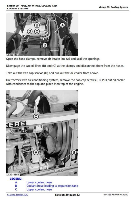 Second Additional product image for - John Deere Tractors 6820, 6920 and 6920S Service Repair Technical Manual (TM4756)