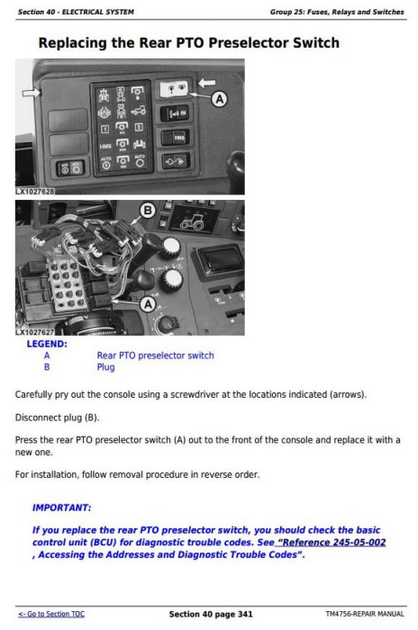 Fourth Additional product image for - John Deere Tractors 6820, 6920 and 6920S Service Repair Technical Manual (TM4756)