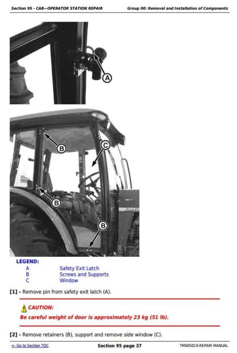 Fourth Additional product image for - John Deere Tractors 6100D, 6110D, 6115D, 6125D, 6130D & 6140D Service Repair Technical Manual (TM605019)