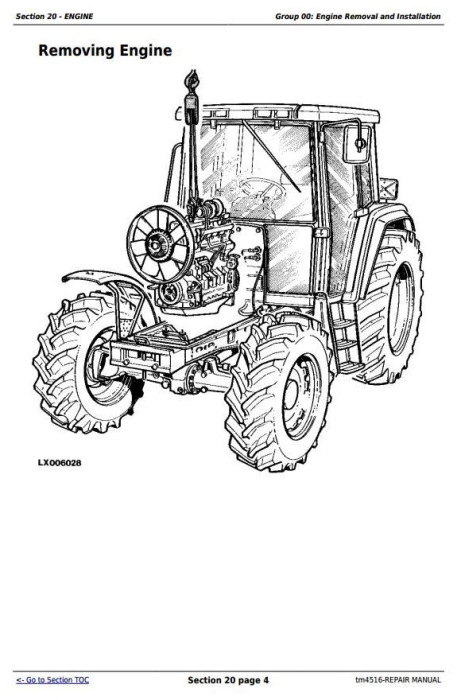 Fourth Additional product image for - John Deere Tractors 6800 and 6900 Service Repair Technical Manual (TM4516)