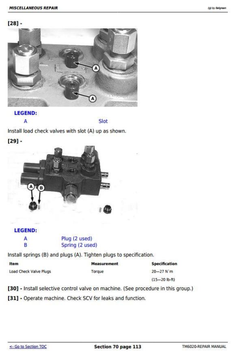 Fifth Additional product image for - John Deere Tractors 6103, 6203, 6403 and 6603 (Latin American) Service Repair Technical Manual (TM6020)