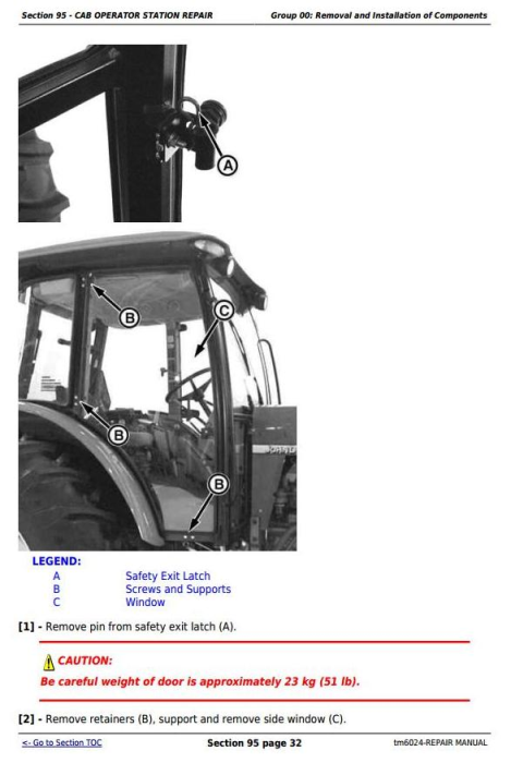 Second Additional product image for - John Deere Tractors 6403 and 6603 2WD or MFWD (North American) Service Repair Technical Manual (tm6024)