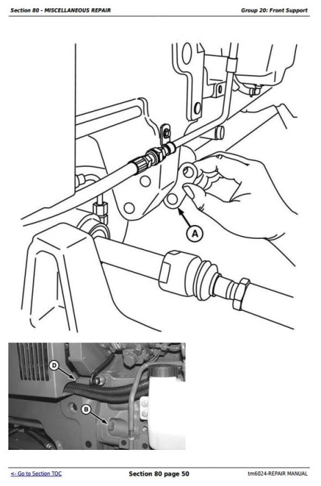 Third Additional product image for - John Deere Tractors 6403 and 6603 2WD or MFWD (North American) Service Repair Technical Manual (tm6024)