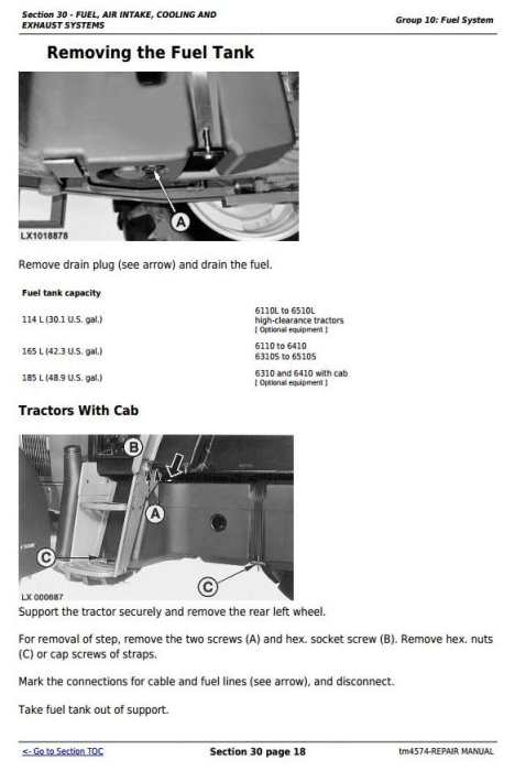 Fourth Additional product image for - John Deere Tractors 6110, 6110L, 6210, 6310, 6310L,6310S, 6410L,6410S, 6510L,6510S Repair Manual (TM4574)