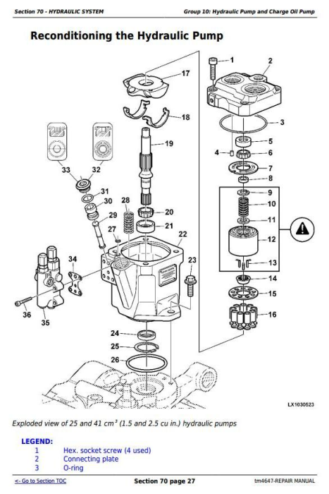 Second Additional product image for - John Deere Tractor 6120, 6220, 6320, 6420, 6120L, 6220L, 6320L, 6420L, 6520L Service Repair Manual TM4647