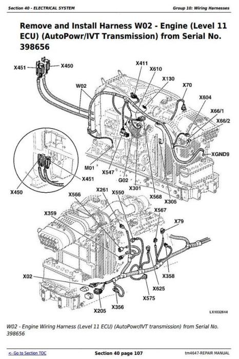 Fourth Additional product image for - John Deere Tractor 6120, 6220, 6320, 6420, 6120L, 6220L, 6320L, 6420L, 6520L Service Repair Manual TM4647