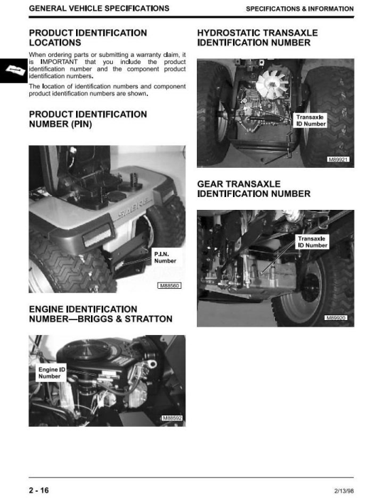 Third Additional product image for - John Deere Sabre 1842GV, Sabre 1842HV Yard Tractors Diagnostic & Repair Technical Service Manual (TM1740)