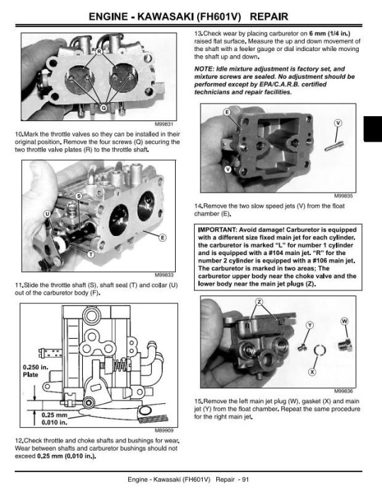 Third Additional product image for - John Deere GX325, GX335, GX345, GX255 Lawn and Garden Tractors Technical Service Manual (tm1973)