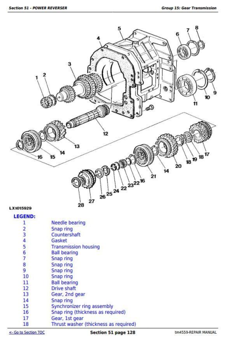 Fourth Additional product image for - John Deere Tractors 6010, 6110, 6210, 6310, 6410, 6510, 6610 (SE) Service Repair Technical Manual TM4559