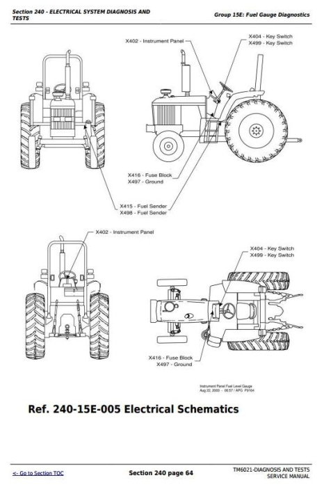 Fourth Additional product image for - John Deere Tractors 6103, 6203, 6403, 6603 (Latin America) Diagnostic and Tests Service Manual (TM6021)