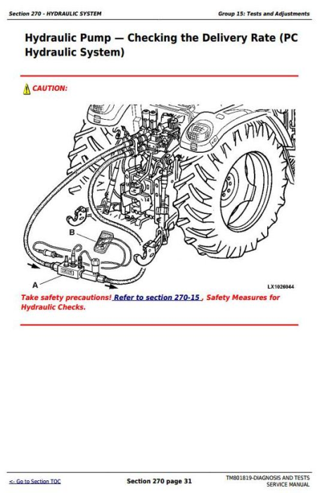Third Additional product image for - John Deere Tractors 6100J, 6110J, 6125J, 6130J (South America) Diagnostic, Tests Service Manual TM801819
