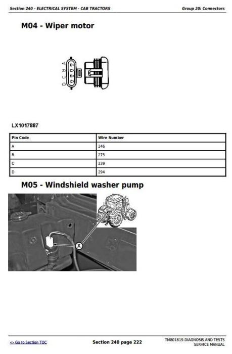Fourth Additional product image for - John Deere Tractors 6100J, 6110J, 6125J, 6130J (South America) Diagnostic, Tests Service Manual TM801819