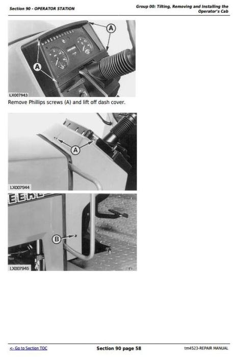 Second Additional product image for - John Deere Tractors 6200,6200L, 6300,6300L, 6400,6400L, 6500,6500L Service Repair Technical Manual TM4523