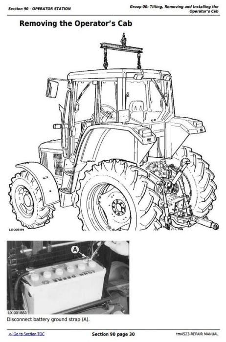 Third Additional product image for - John Deere Tractors 6200,6200L, 6300,6300L, 6400,6400L, 6500,6500L Service Repair Technical Manual TM4523