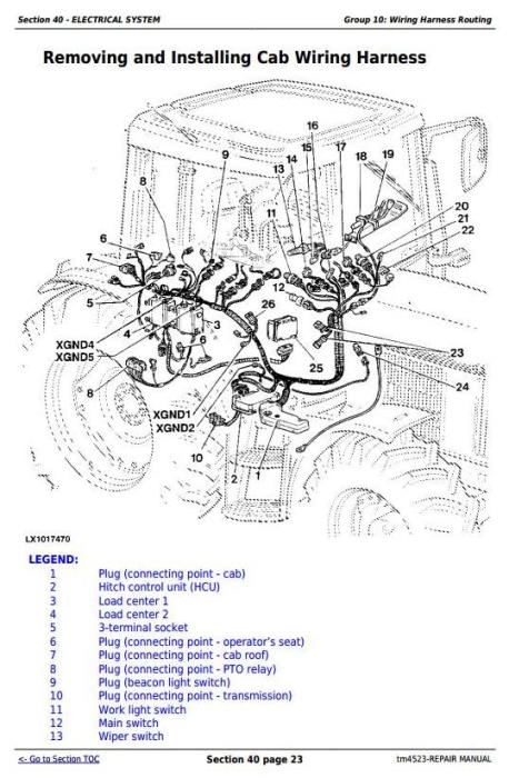 Fourth Additional product image for - John Deere Tractors 6200,6200L, 6300,6300L, 6400,6400L, 6500,6500L Service Repair Technical Manual TM4523