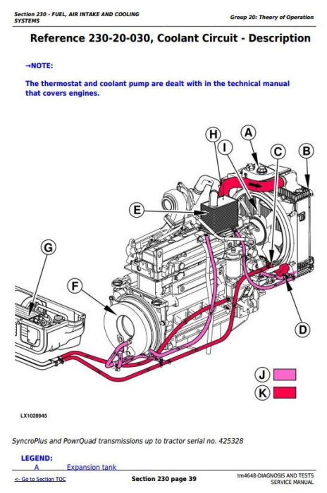 Fourth Additional product image for - John Deere Tractors 6215, 6415, 6615, 6715 Diagnostic and Tests Service Manual (tm4648)