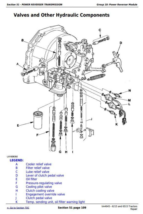 Second Additional product image for - John Deere Tractors 6215 and 6515 (European) Service Repair Technical Manual (tm4645)