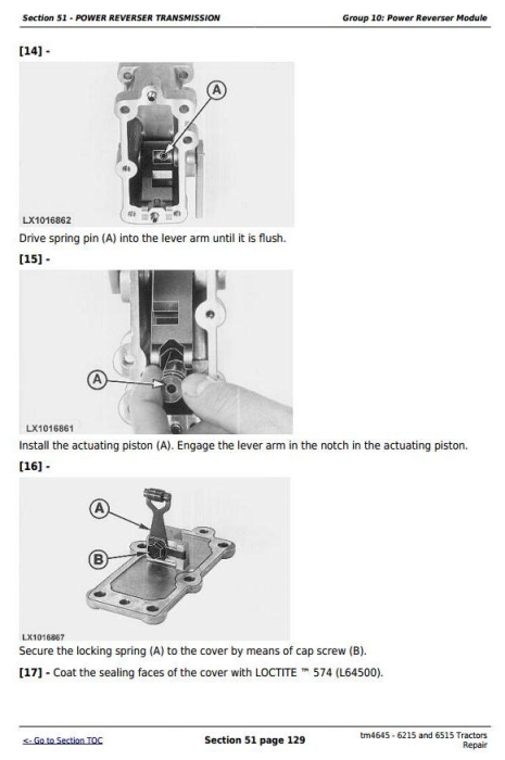 Third Additional product image for - John Deere Tractors 6215 and 6515 (European) Service Repair Technical Manual (tm4645)