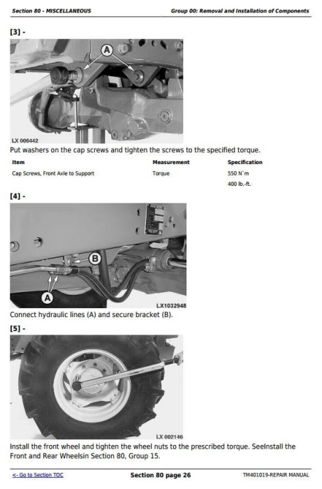 Second Additional product image for - John Deere Tractors 6225, 6325, 6425, 6525 (European) Service Repair Technical Manual (TM401019)