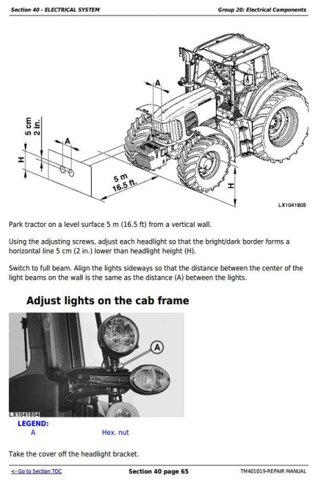 Fourth Additional product image for - John Deere Tractors 6225, 6325, 6425, 6525 (European) Service Repair Technical Manual (TM401019)