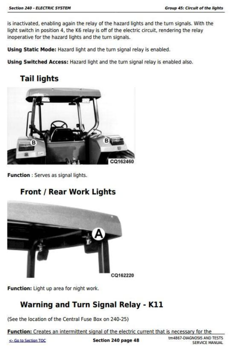 Fourth Additional product image for - John Deere Tractors 6405 and 6605 Diagnostic and Tests Service Manual (tm4867)