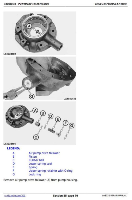 Third Additional product image for - John Deere Tractors 6415 and 6615 (South America) Service Repair Technical Manual (TM8130)