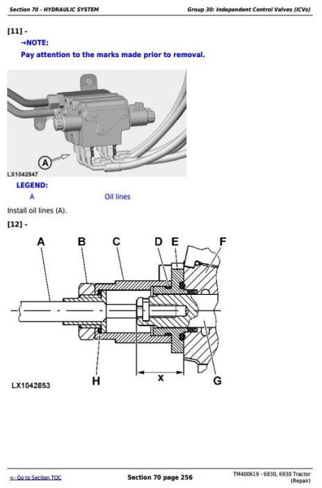 Second Additional product image for - John Deere Tractors 6830, 6930 (European) Service Repair Technical Manual (TM400619)