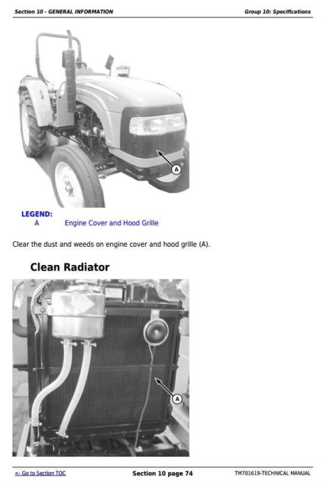 Third Additional product image for - John Deere Tractors 550, 554, 5055B, 600, 604, 650, 654, 700, 704 China Technical Service Manual TM701619