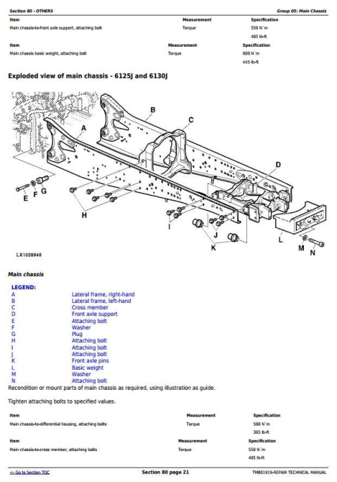 Third Additional product image for - John Deere 6110J, 6125J, 6130J Tractors Service Repair Technical Manual (Worldwide Edition) (TM801919)